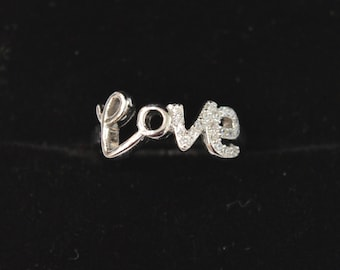 LOVE 925 Sterling Silver Ring for your Valentine; 2.000 gms