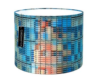 Lamp Shade - Agbar. Photography lampshade, multicolor, drum, Barcelona.