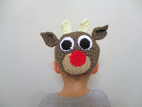 Red Nosed Reindeer Bun Cover Crochet Pattern Crochet Bun