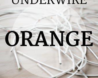 Orange Bra Underwires! 1 Pair, Sizes 30- 54!