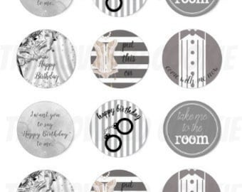 Birthday Shades of Grey-Themed Chocolate Covered Cookies, Custom Treats for all Occasions