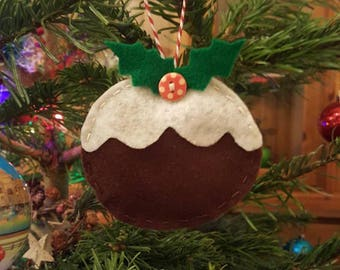 Handmade felt Christmas pudding