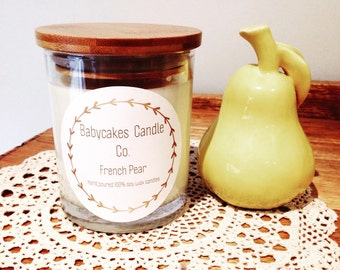 French Pear 100% hand poured soy wax candle