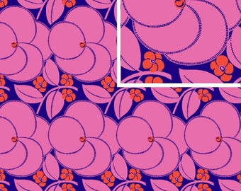 Heart Bloom - ROSE - PER 25CM - Amy Butler - HAPI - PWAB123 - 100% Cotton Quilt Fabric