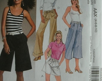 Misses Miss Petite Shorts and Pants in Two Lengths Sizes 4-6-8-10 EASY McCalls Pattern M5333 UNCUT Pattern 2007