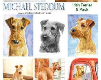 Irish Terrier 8 Pack Note Card Set