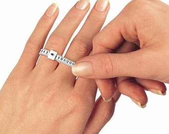 Reusable Plastic Finger Ring Sizer Measuring Tool