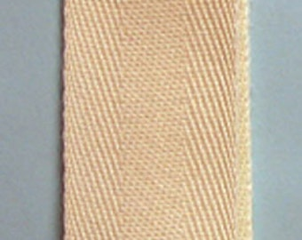 Notion:  Cotton TWILL Tape - 1 Inch Wide - Ivory - #CTT100 825 - Sold by FIVE YARD Increments - Towelling - Apron