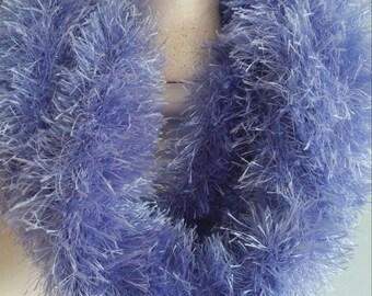 Sparkly Fuzzy Infinity Scarf
