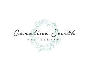 PRE-MADE LOGO // Cursive + Feminine + Wreath // Business Logo
