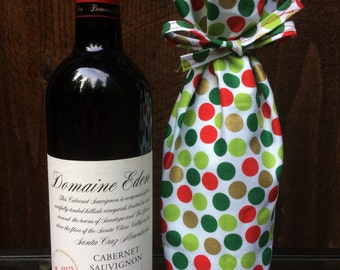 Polka Dot Bottle Gift Bag