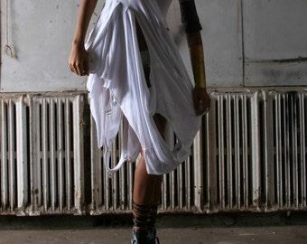 White Dress , Clothing , Women's Fashion , tee shirts, unique design, deconstruction