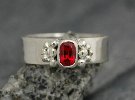 ON SALE- Chatham Ruby in Sterling Silver Ring