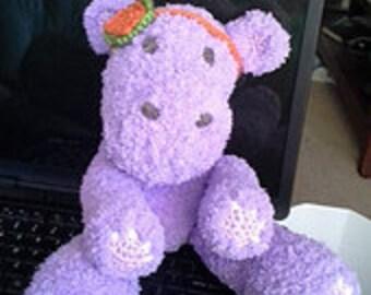 Daisy Hippo crocheted softie