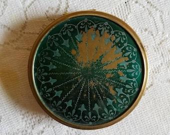 Vintage Compact Mirror antique powder compaque for purse or travel