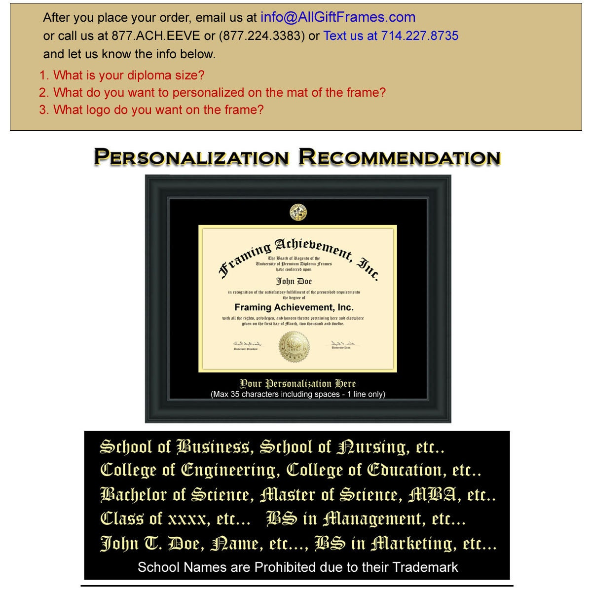 College Diploma Frames University Graduation Gifts Graduates Satin ...