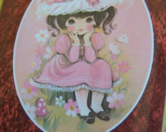 adorable pink vintage photo album