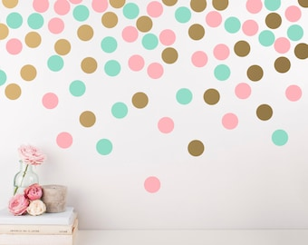 Polka Dot Wall Decals   Multicolored Wall Decals, Nursery Decals, Confetti  Decals, Modern Wall Decals, Modern Decor