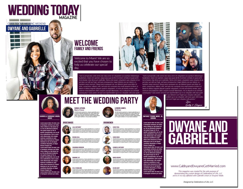 Hochzeit Magazin Programm MS Publisher Vorlage mit