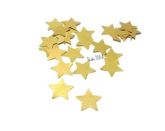 Double sided Gold Star confetti- 200pcs,500pcs small Gold Star cut outs