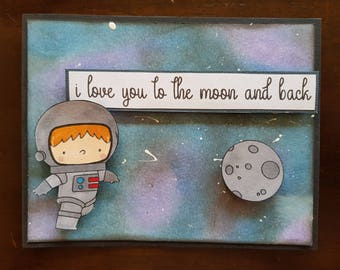 Astronaut I Love You Card