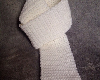 Elegant, white scarf