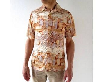 Men's 70s Shirt | Desert Dreams | Disco Shirt | Medium M