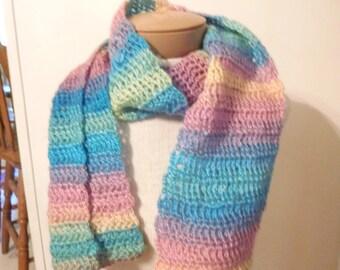 rainbow sherbet scarf.