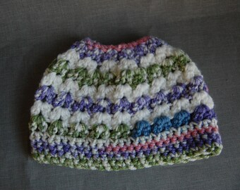 Child's Ponytail hat  ~ Ready to ship