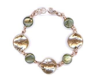 1952 Penny Bracelet 66th Birthday Gift for Women Labradorite Beads 66th Birthday Gift Handmade Jewelry