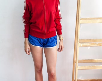 Vintage Red adidas Originals Sweatshirt Track Jacket