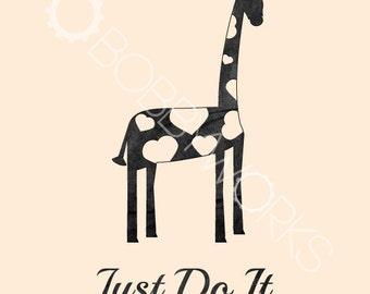 Just Do It - Giraffe Print