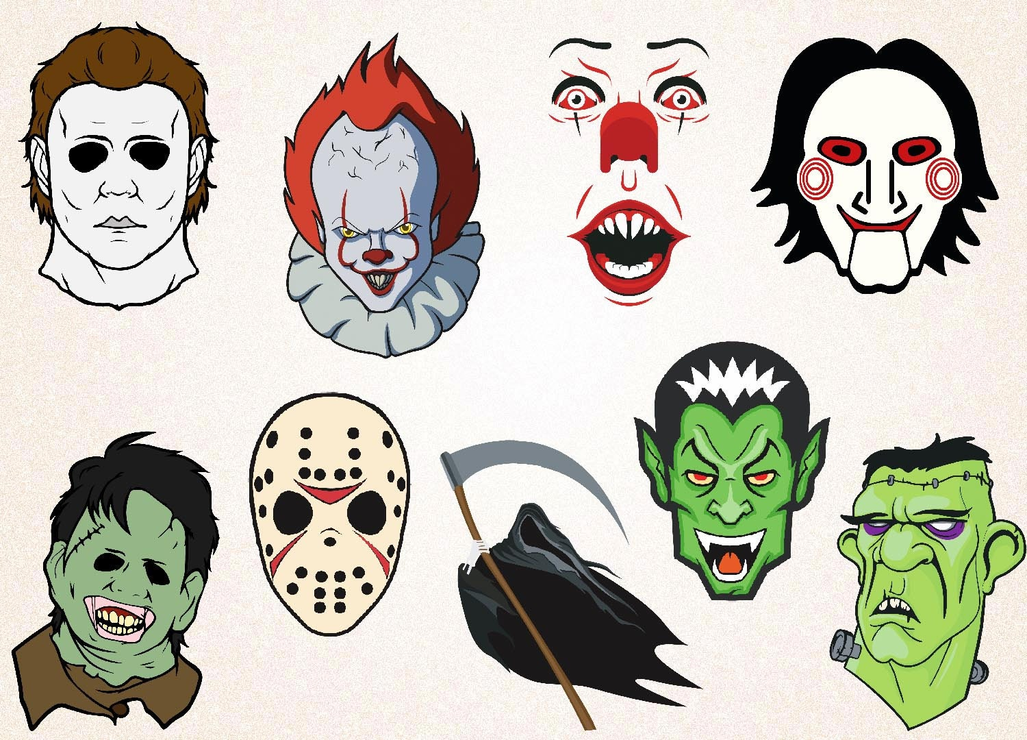 Horror Pack Clipart/Horror Characters SVG,PNG 300 ppi,eps ...