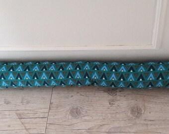 "Black 90 cm, fabric door ""triangles"" green and blue style Scandinavian"