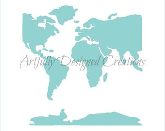 Stencil world map etsy studio world map stencil map background stencil world map cookie stencil world map cake stencil world map cookies map cookies gumiabroncs Images
