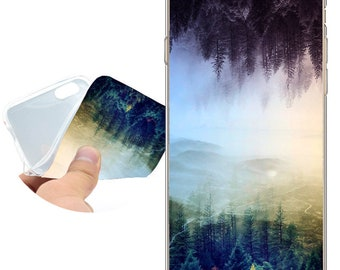 Capa Flipped Forest Clear Soft TPU Silicone Case for iPhone X 8 7 6 6S Plus SE 5S 5 Cover for iPod Touch 6 5 Case.