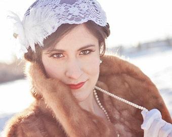 Lace Juliet Vintage Inspired Bridal Cap