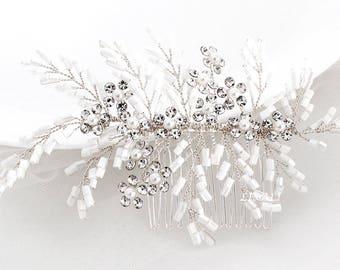 LISALI Crystal Bridal Comb, Wedding Hair Comb, Bridal Hair Comb, Wedding Hair Vine Comb, Crystal Hair Comb