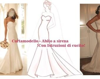Bridal dress pattern- size 8