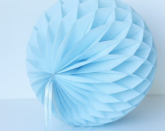 Powder blue Tissue paper honeycomb ball -  hanging wedding party decorations - nursery decor - birthday party-pastel party decor