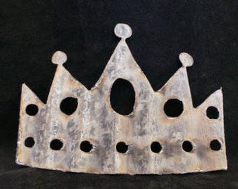 Crown Made out of Barn Tin  Set of 3 or Set of 6 Princess Decor/ Baby Shower / Wedding / Queen / DIY/ Royalty Craft Idea / Royal / Party