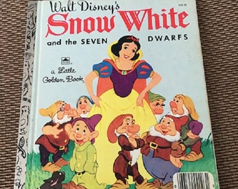 Snow White and the Seven Dwarfs A Little Golden Book 1948