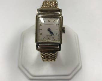 d214 Vintage Original Girard Perregaux Swiss 10K Gold Filled Elegant Wrist Watch