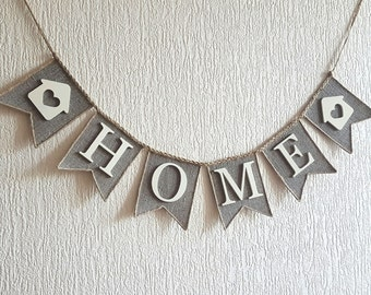 home banner, Home Sign,Home Burlap Banner, Welcome Bunting, Military Banner, Deployment Banner, Home decor, welcome home banner