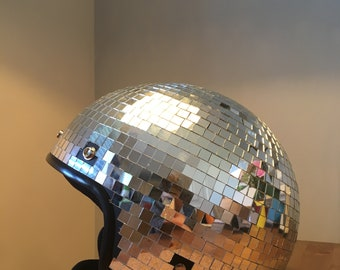 Disco mirror ball helmet