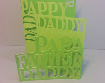 Fathers Day Card - Papa Father Pappy Pop