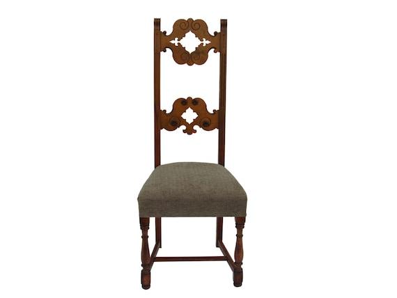 style italien du d but des ann es 1900 chaise vintage tr ne. Black Bedroom Furniture Sets. Home Design Ideas