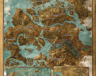 The witcher etsy the witcher 3 wild hunt world map gumiabroncs Image collections