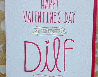 Funny Valentine Card Naughty Sexy Valentine's Day Card for Husband, Boyfriend Card - DILF Card - Funny Valentine's Card  Valentines Day