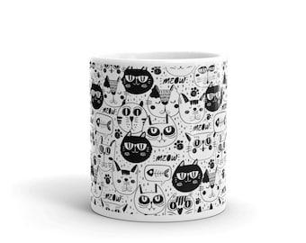 Cat Faces Mug